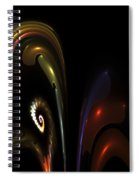 Fractal Orchid Spiral Notebook