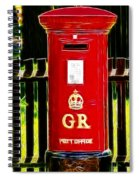 Fractalius Pillar Box Spiral Notebook