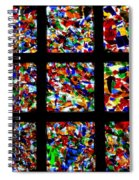 Fractured Squares Spiral Notebook