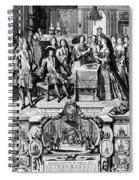 France: Baptism, 1704 Spiral Notebook