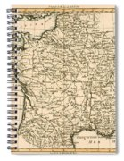 France By Regions Spiral Notebook