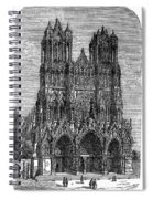 France: Reims Cathedral Spiral Notebook