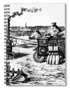 France: Steam Threshing Spiral Notebook