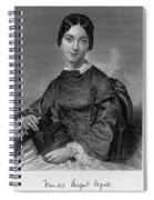 Frances Sargent Osgood (1811-1850). American Poet. Engraving From A Painting By Alonzo Chappel, C1873 Spiral Notebook