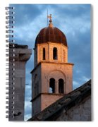 Franciscan Monastery Tower At Sunset Spiral Notebook