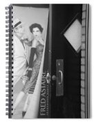 Fred And Ginger In Black And White Spiral Notebook