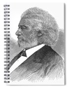 Frederick Douglass (c1817-1895). American Abolitionist. Wood Engraving, American, 1877 Spiral Notebook