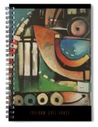 Freedom Jazz Dance Poster Spiral Notebook