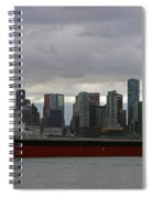 Freighter In Port Spiral Notebook