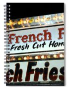 French Fries Sign Spiral Notebook