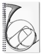 French Horn Spiral Notebook