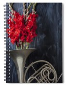 French Horn With Gladiolus Spiral Notebook
