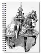 French Knight, 16th Century Spiral Notebook