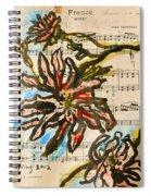 French Magnolia Minuet Spiral Notebook