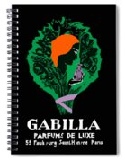 French Perfume Advert Spiral Notebook