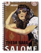 French Poster: Salome, 1918 Spiral Notebook