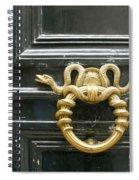 French Snake Doorknocker Spiral Notebook