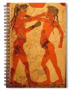Fresco Of Boxing Children Spiral Notebook