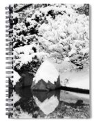Fresh Snow And Reflections In A Japanese Garden 1 Spiral Notebook