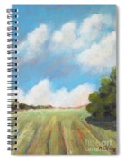Freshly Cut Hay Field Spiral Notebook