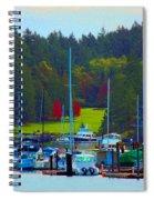 Friday Harbor Docks Spiral Notebook