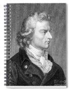 Friedrich Schiller Spiral Notebook