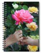 Friendship Rose Spiral Notebook