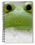 Frog In The Bath  Spiral Notebook