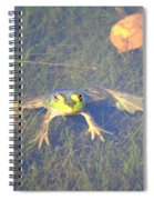 Froggie Sitting In The Water Spiral Notebook