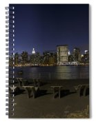 From Gantry At Night Spiral Notebook