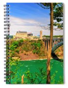 From Usa To Can Over The Rainbow Bridge Spiral Notebook