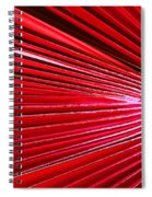 Frond Of Red Spiral Notebook