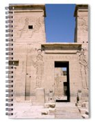 Front Of Philae Wall Spiral Notebook