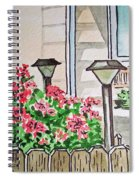 Front Yard Lights Sketchbook Project Down My Street Spiral Notebook