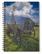 Frontier Farm In 1880 Town Spiral Notebook