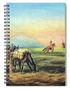 Frontiersmen And Native American Spiral Notebook