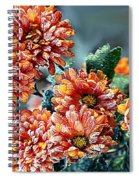 Frosted Mums Spiral Notebook