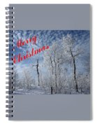 Frosted Trees Christmas Spiral Notebook