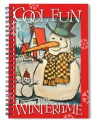Frosty Family Poster Spiral Notebook