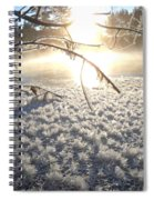 Frosty Ice At Sunrise Spiral Notebook