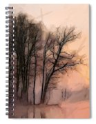 Frosty Morning At The Lake Spiral Notebook