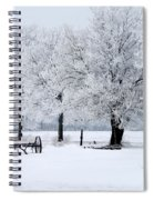 Frosty Morning On Old Wagon Wheels Spiral Notebook