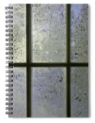 Frosty Window Pane Spiral Notebook