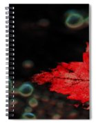 Frozen Red Leaf Spiral Notebook