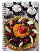 Fruit Tart Pie And Cupcakes  Spiral Notebook