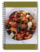 Fruity Tea With Bamboo Leaves Square Spiral Notebook
