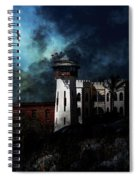 Full Moon Over Hard Time - San Quentin California State Prison - 7d18546 Spiral Notebook