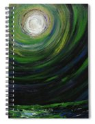Full Moon Over The Sea Spiral Notebook