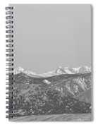Full Moon Setting Over The Co Rocky Mountains Bw Spiral Notebook
