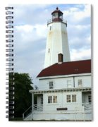 Full View Of Sandy Hook Lighthouse Spiral Notebook